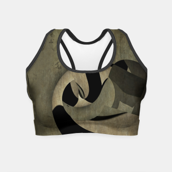 Thumbnail image of crow abstract Crop Top, Live Heroes