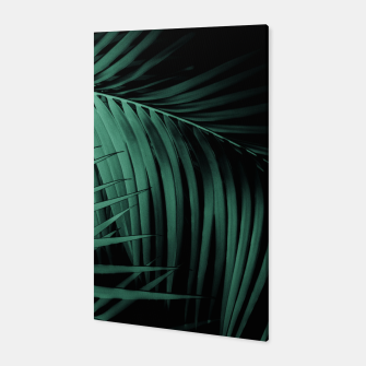 Miniatur Palm Leaves Green Vibes #7 #tropical #decor #art Canvas, Live Heroes