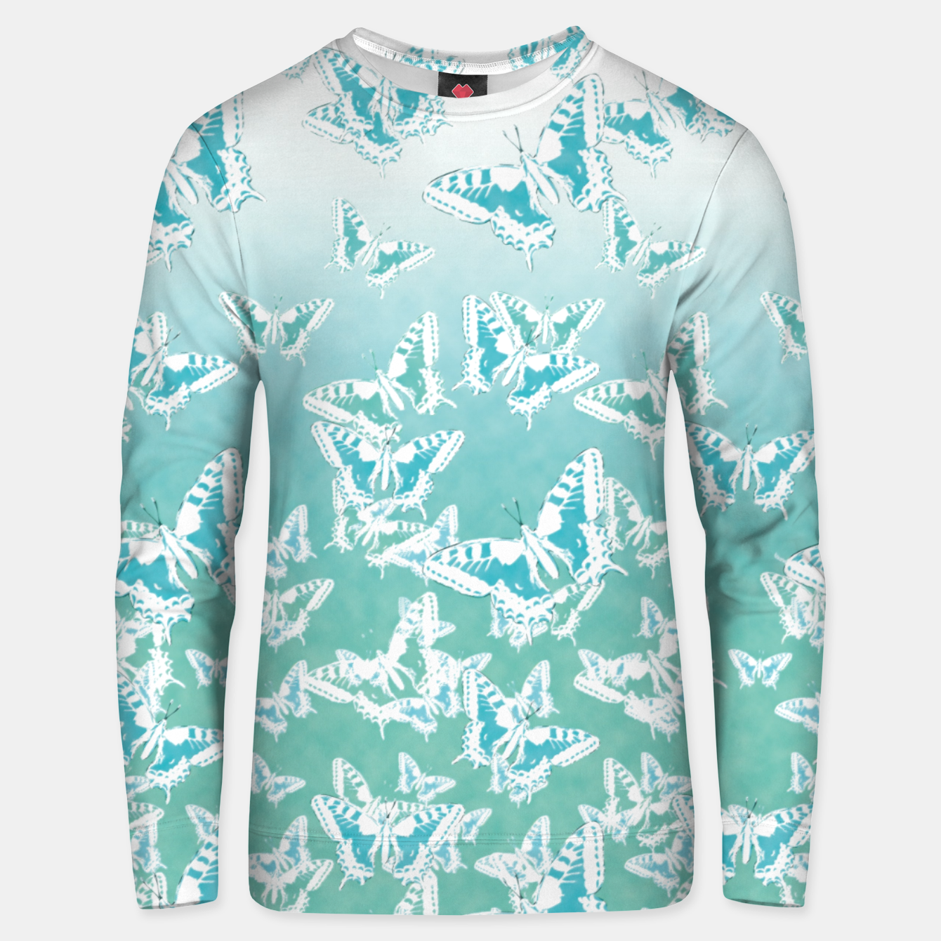 Foto blue butterflies in the sky Cotton sweater - Live Heroes