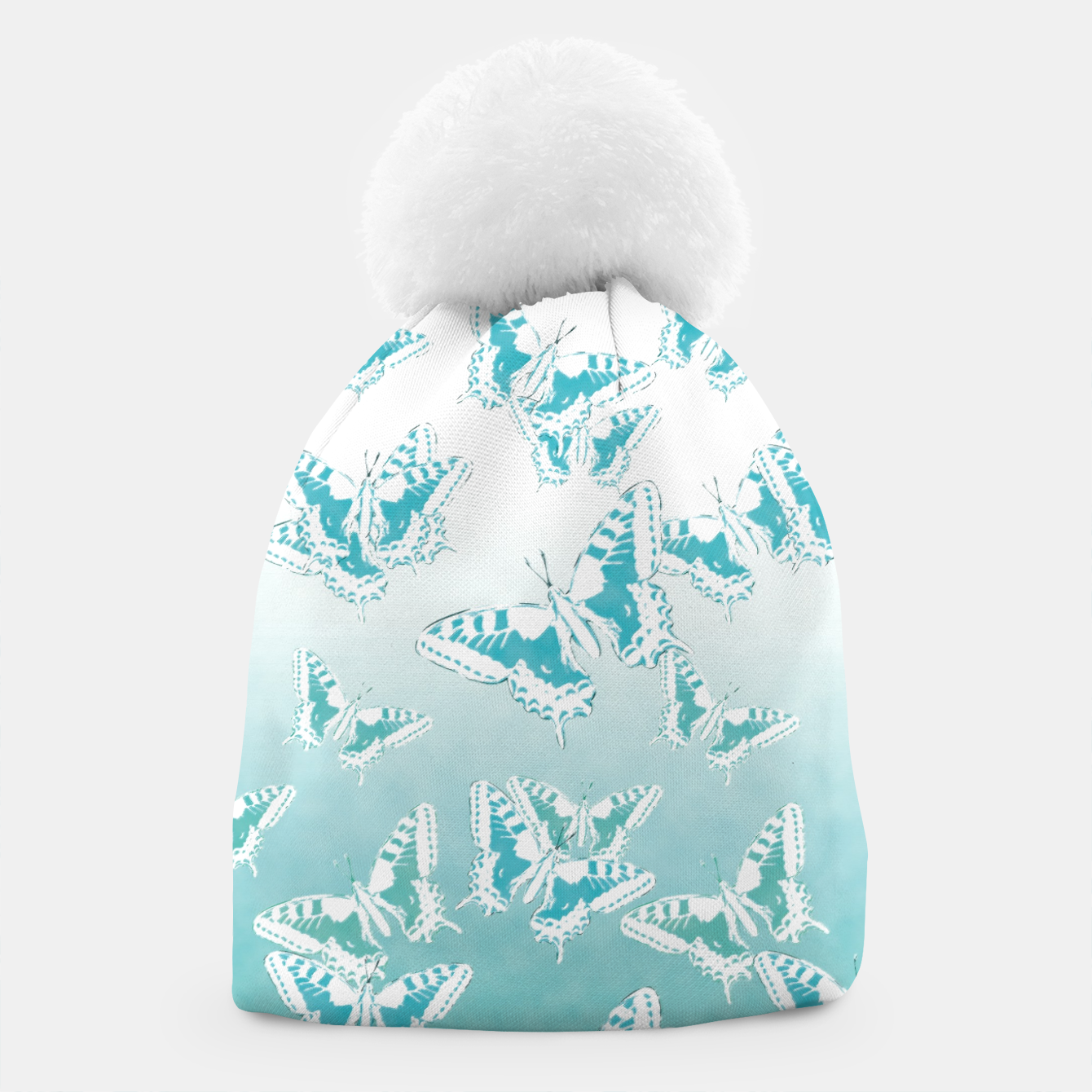 Foto blue butterflies in the sky Beanie - Live Heroes
