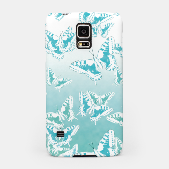 Miniatur blue butterflies in the sky Samsung Case, Live Heroes