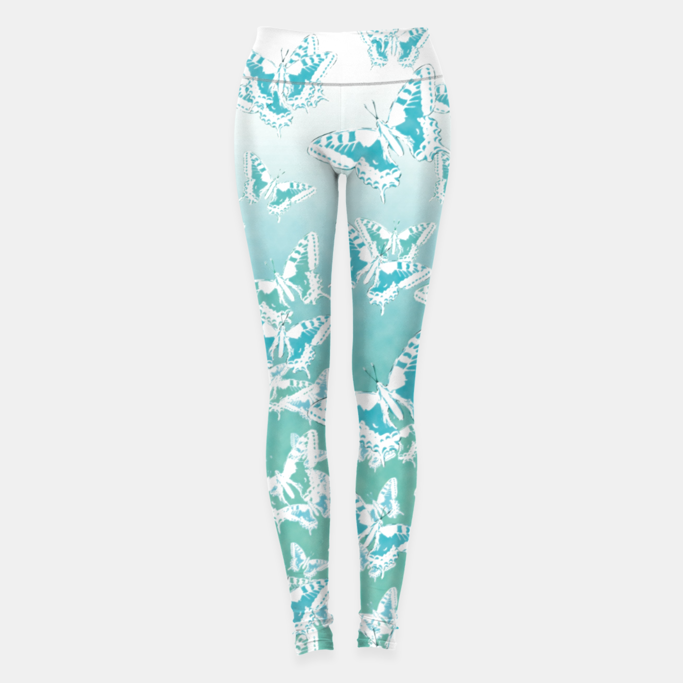 Foto blue butterflies in the sky Leggings - Live Heroes