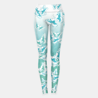 Miniatur blue butterflies in the sky Leggings, Live Heroes