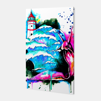 Miniatur lighthouse keeper Canvas, Live Heroes
