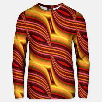 Thumbnail image of Red Wave Line Vintage Retro Cotton sweater, Live Heroes