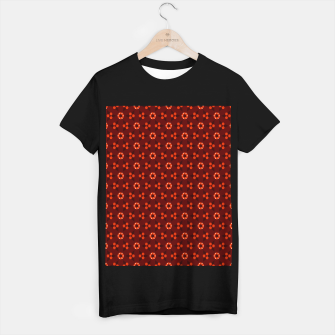 Thumbnail image of Little White Flowers Abstract Geometric Pattern T-shirt regular, Live Heroes
