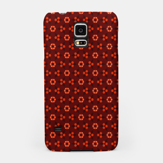 Thumbnail image of Little White Flowers Abstract Geometric Pattern Samsung Case, Live Heroes