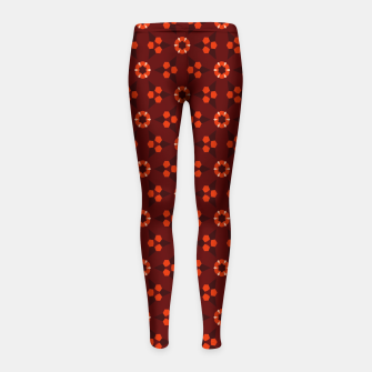 Thumbnail image of Little White Flowers Abstract Geometric Pattern Girl's leggings, Live Heroes