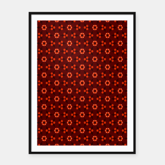 Thumbnail image of Little White Flowers Abstract Geometric Pattern Framed poster, Live Heroes