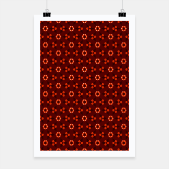 Thumbnail image of Little White Flowers Abstract Geometric Pattern Poster, Live Heroes