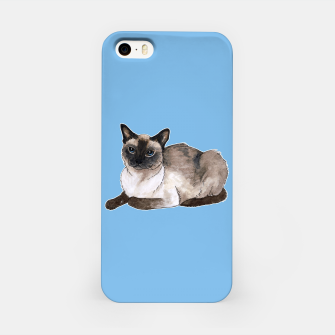 Thumbnail image of Siamese cat iPhone Case, Live Heroes