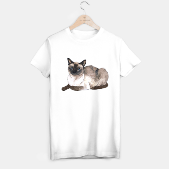 Thumbnail image of Siamese cat T-shirt regular white, Live Heroes