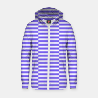 Thumbnail image of Blue strips Cotton zip up hoodie, Live Heroes