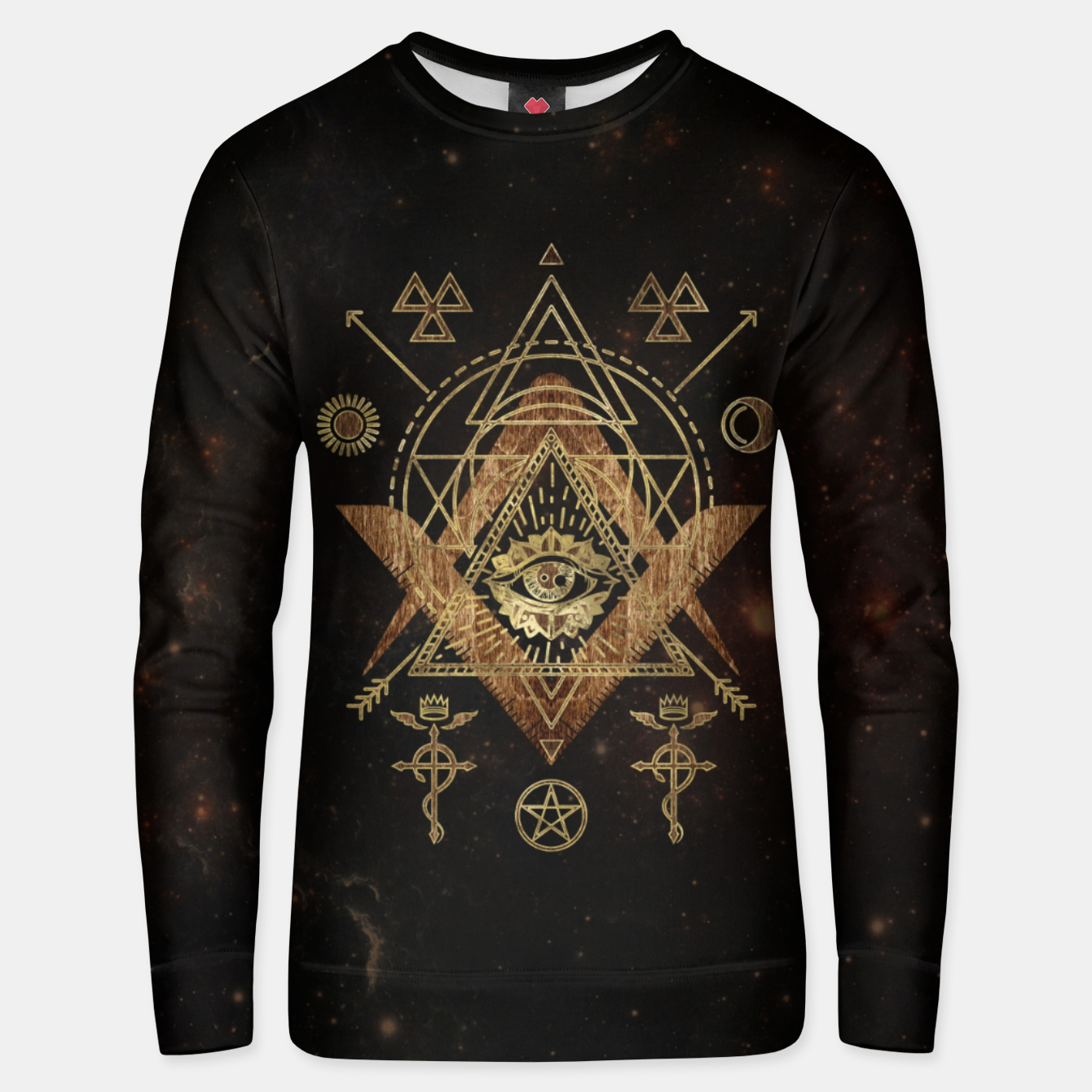 Foto Mystical Sacred Geometry Ornament Cotton sweater - Live Heroes
