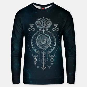 Mystical Sacred Geometry Ornament Cotton sweater Bild der Miniatur