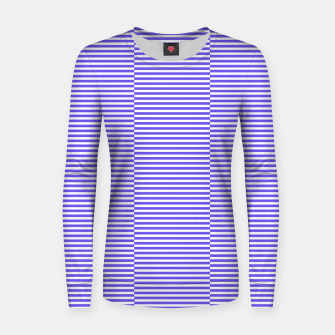 Thumbnail image of Blue strips Woman cotton sweater, Live Heroes