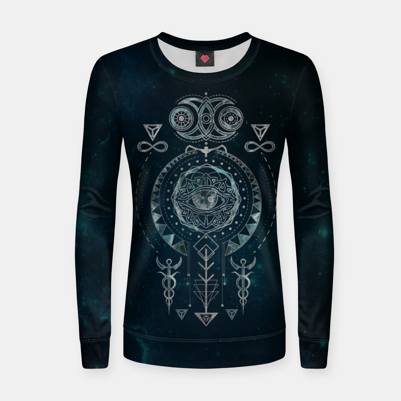 Foto Mystical Sacred Geometry Ornament Woman cotton sweater - Live Heroes