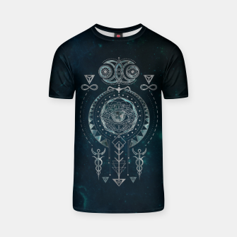 Mystical Sacred Geometry Ornament T-shirt Bild der Miniatur