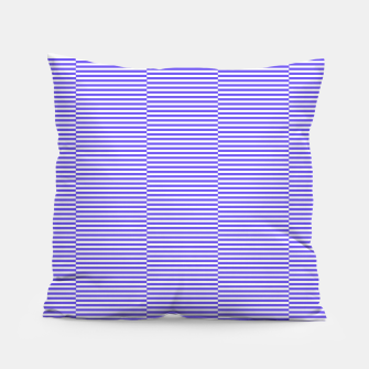 Thumbnail image of Blue strips Pillow, Live Heroes