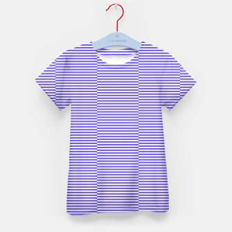 Thumbnail image of Blue strips Kid's t-shirt, Live Heroes