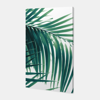 Miniatur Palm Leaves Green Vibes #6 #tropical #decor #art  Canvas, Live Heroes