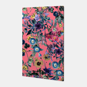 Surreal Floral Canvas Bild der Miniatur
