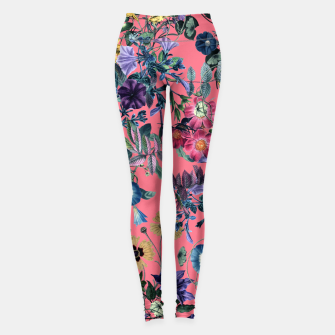 Miniatur Surreal Floral Leggings, Live Heroes