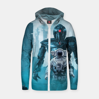 Thumbnail image of Shadow of the Cyclops Cotton zip up hoodie, Live Heroes