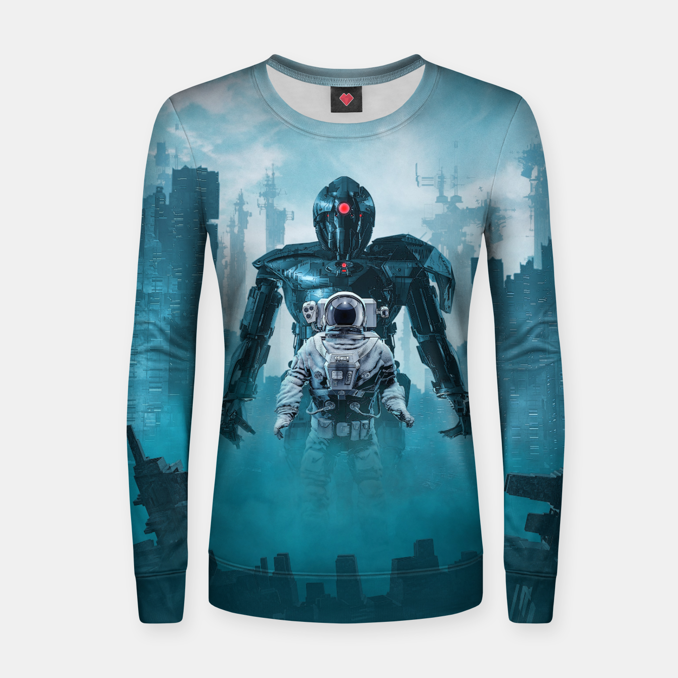 Foto Shadow of the Cyclops Woman cotton sweater - Live Heroes