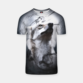 Thumbnail image of The Wolf and the Moon T-Shirt, Live Heroes