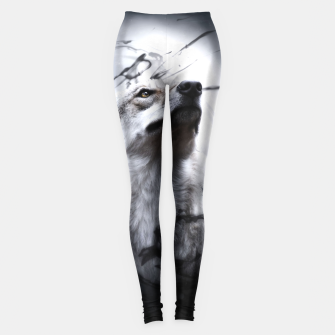 Thumbnail image of The Wolf and the Moon Leggings, Live Heroes