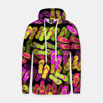 Thumbnail image of Flip Flop Pattern Cotton hoodie, Live Heroes
