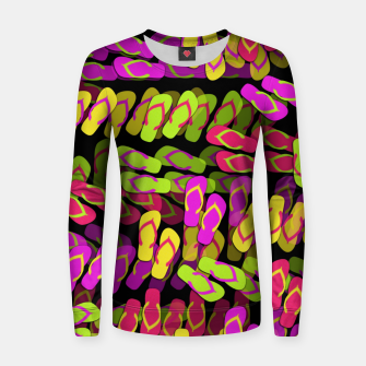 Thumbnail image of Flip Flop Pattern Woman cotton sweater, Live Heroes