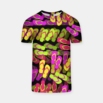 Thumbnail image of Flip Flop Pattern T-shirt, Live Heroes