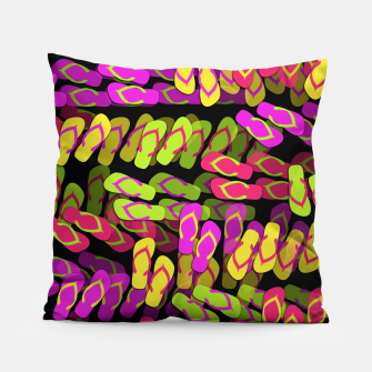 Thumbnail image of Flip Flop Pattern Pillow, Live Heroes