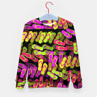 Thumbnail image of Flip Flop Pattern Kid's sweater, Live Heroes