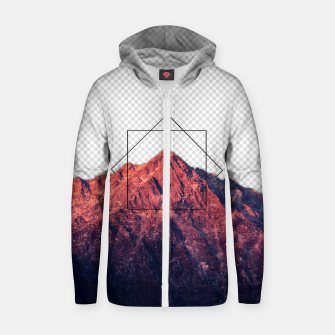 Thumbnail image of i'm transparent Cotton zip up hoodie, Live Heroes