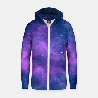 Thumbnail image of Starry Night Skies - 02 Cotton zip up hoodie, Live Heroes