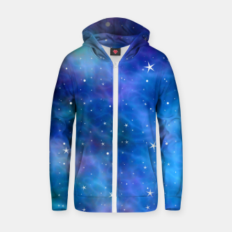 Thumbnail image of Starry Night Skies - 04 Cotton zip up hoodie, Live Heroes