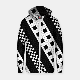 Thumbnail image of Subway Tile Flow Cotton zip up hoodie, Live Heroes