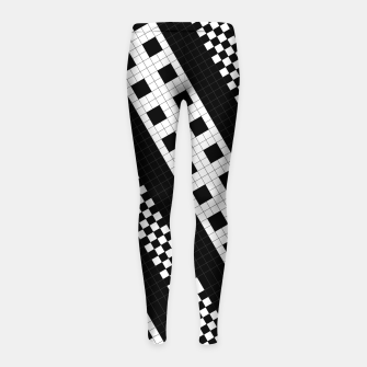Thumbnail image of Subway Tile Flow Girl's leggings, Live Heroes