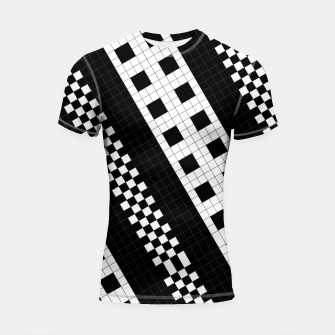 Thumbnail image of Subway Tile Flow Shortsleeve rashguard, Live Heroes