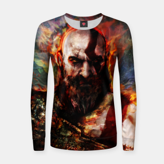 Miniatur god of war Woman cotton sweater, Live Heroes