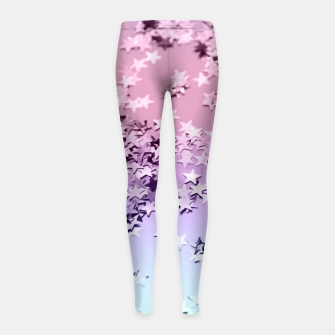 Thumbnail image of Unicorn Girls Glitter Stars #1 #shiny #pastel #decor #art  Kinder-Leggins, Live Heroes