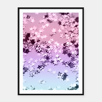 Thumbnail image of Unicorn Girls Glitter Stars #1 #shiny #pastel #decor #art  Plakat mit rahmen, Live Heroes