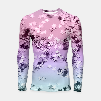 Thumbnail image of Unicorn Girls Glitter Stars #1 #shiny #pastel #decor #art  Longsleeve rashguard, Live Heroes