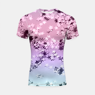 Thumbnail image of Unicorn Girls Glitter Stars #1 #shiny #pastel #decor #art  Shortsleeve rashguard, Live Heroes