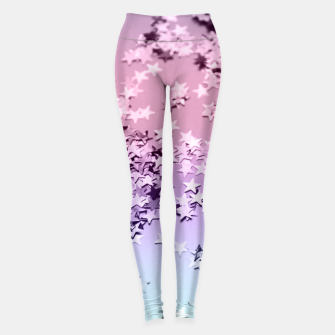 Thumbnail image of Unicorn Girls Glitter Stars #1 #shiny #pastel #decor #art  Leggings, Live Heroes