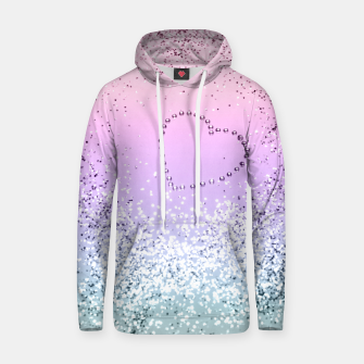 Thumbnail image of Sparkling UNICORN Girls Glitter Heart #1 #shiny #pastel #decor #art  Baumwoll Kapuzenpullover, Live Heroes