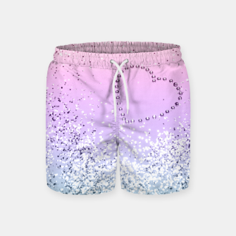 Thumbnail image of Sparkling UNICORN Girls Glitter Heart #1 #shiny #pastel #decor #art  Badeshorts, Live Heroes